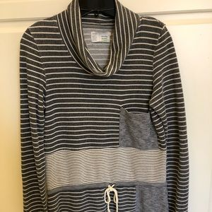 Anthropologie Saturday Sunday Gray Cowl Neck Shirt